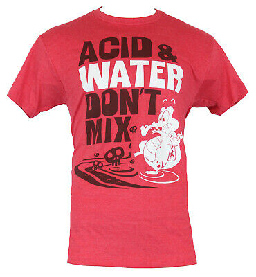 Disney Where's My Water Mens Acid and Water Don't Mix Shirt New (Acid Water Shirts)