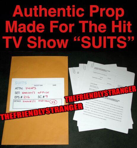 """Rare HARVEY SPECTER """"SUITS"""" Harvey's Motion PROP e 100% Authentic GABRIEL MACHT"""