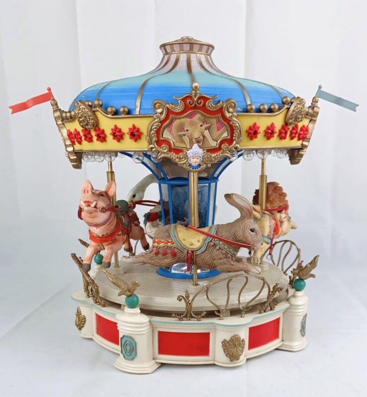 Vintage Fantasy Carousel Music Box Rare Enesco 1986 Pig Lion Hare Goose READ