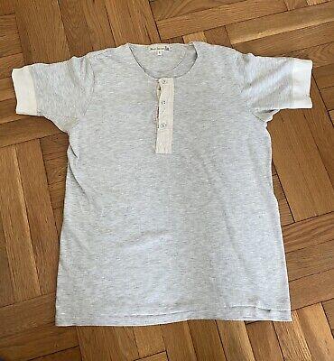 Merz B Schwanen 207 Shirt Henley Size 6 Large Gray