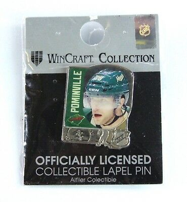 Official Mn Wild Nhl Hockey Lapel Pin Jason Pominville Minnesota