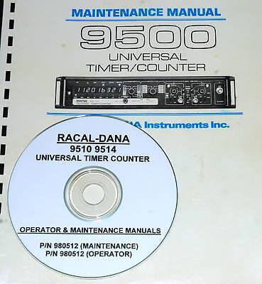 Racal-dana 9510 9514 Operator Service Manuals 2 Vol