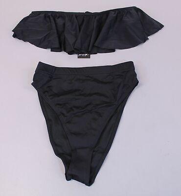 Nasty Gal Women's A Girl's Best Friend Bikini Set BF5 Black Size US:8 UK:12 (Best Friend Bathing Suits)