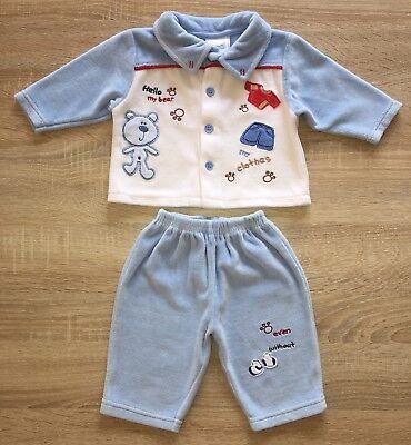 Nannette Baby 2-tlg. Set Nicki Jacke Hose Gr. 62/68 mit Bär blau Jungen TOP! Nannette Baby Set