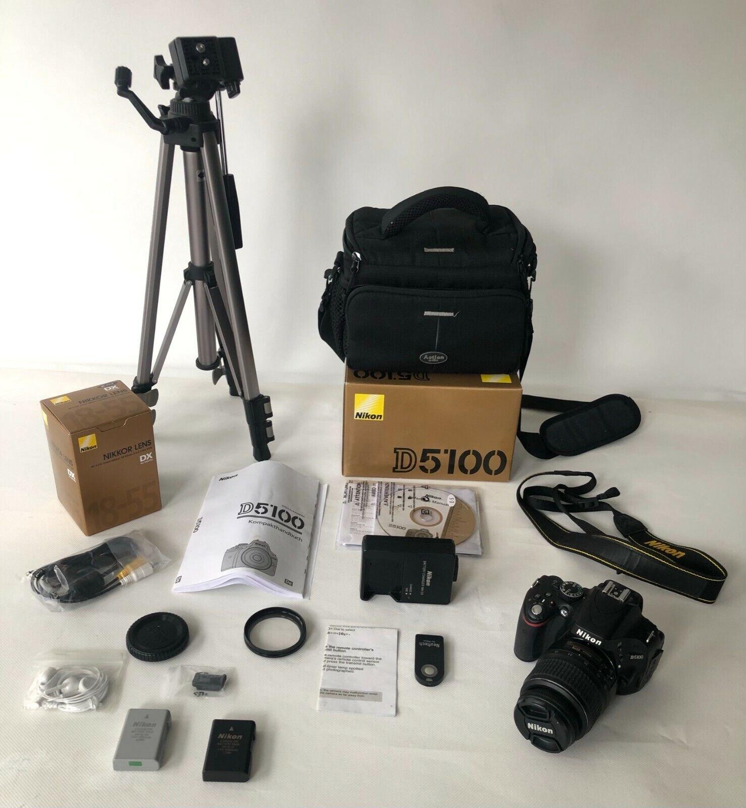 Nikon D5100 SLR digitale Spiegelreflexkamera mit Objektiv und MEGA Zubehörpaket