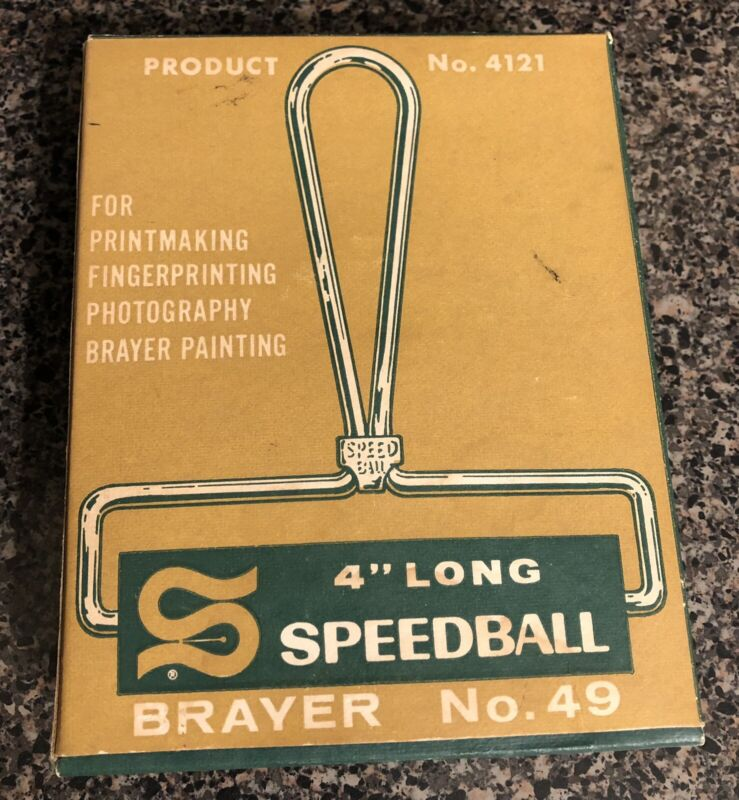"Vintage Hunt 4"" Speedball Brayer No. 49 (Product No. 4121) - In Box"