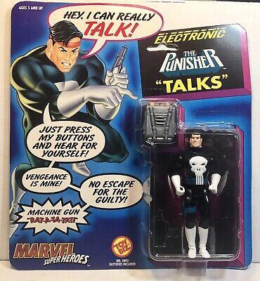 - Marvel Super Heroes Electronic The Punisher Talks Action Figure ToyBiz 1991 MOC