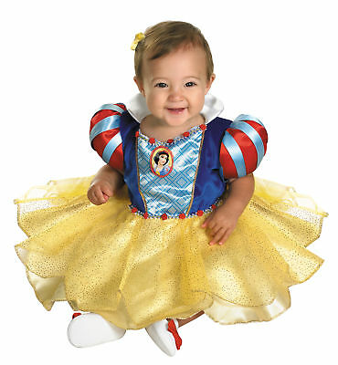 Snow White Infant Girls Costume Puff Sleeves And Cameo Fancy Dress Disguise