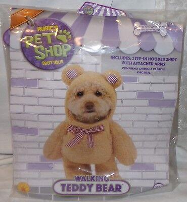 Rubies Pet Shop Boutique Walking Teddybär Kostüm XL Neu Halloween Hund
