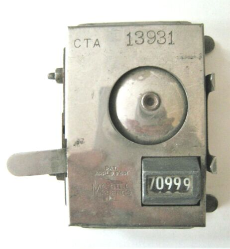 Vintage Chicago CTA Hand Fare Counter Trolley 13931