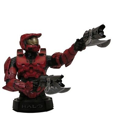 Red Spartan Halo (GENTLE GIANT HALO 3 RED / ROTE SPARTAN MASTER CHIEF RESIN BÜSTE NEU & OVP )