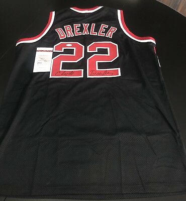 cfbdcc342 Clyde Drexler Signed Authentic Portland Trailblazers Jersey JSA Witness COA
