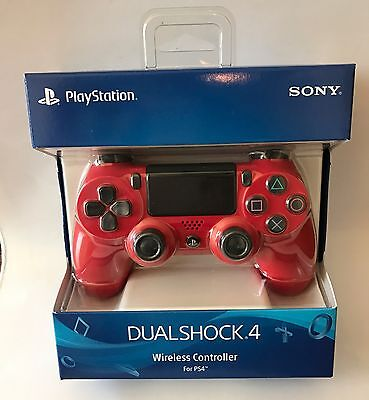 Official Sony PlayStation 4 PS4 Dualshock 4 Wireless Controller Magma (Sony Dualshock 4 Wireless Controller Magma Red Ps4)