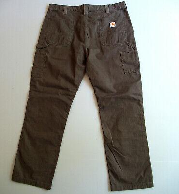 Mens Carhartt Relaxed Carpenter Pants Dark Brown Tag 40 x 32 Measure 38 x 31.5