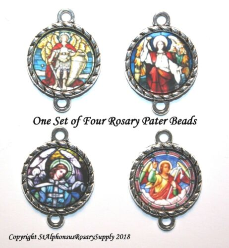 Silver Archangel Rosary Set | ROSARY Image Bead Parts/Choice of 1 or a set!