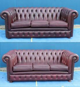 *FREE DLY-PAIR OF STUNNING CHESTERFIELD SOFA COUCH LOUNGE SUITE