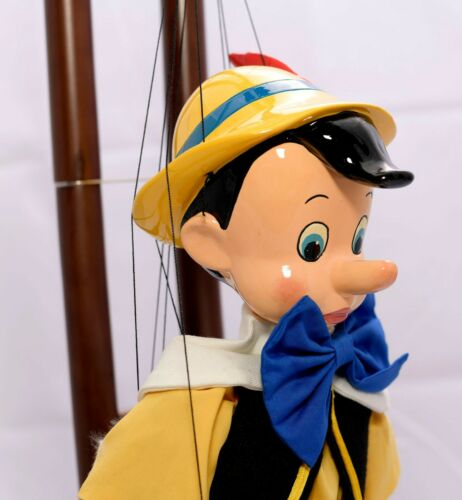DISNEY, MASTER REPLICA, BOB BAKER, LIFE SIZE PINOCCHIO STRING PUPPET WITH STAND.