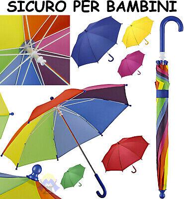 OMBRELLO da BAMBINO Antivento PIOGGIA Arcobaleno PIEGHEVOLE per BIMBO MULTIOLORE