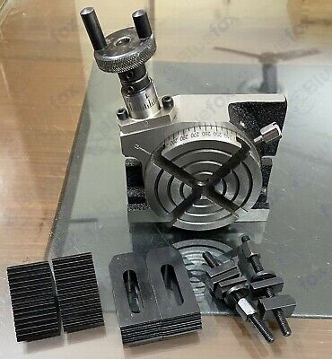 4 Horizontal Vertical Precision Rotary Table W. Clamping Kit