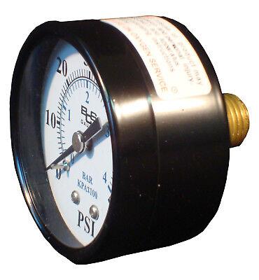 Pressure Gauge 0-60 Psi For Pentair Hayward Pool Filters Back Rear Mount