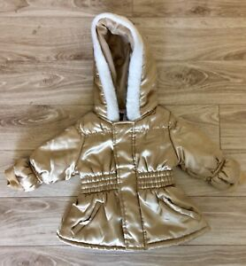 Young Hearts Girls Gold Fashion Coat Size 12 Months