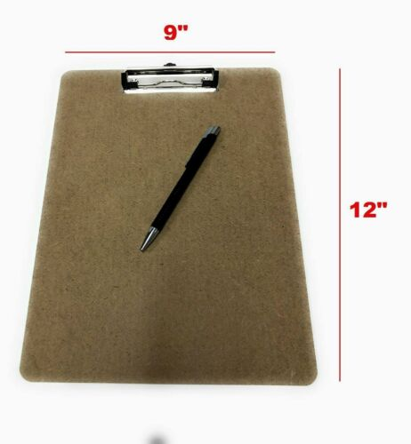 """Ultra Smooth Writting Wooden Surface Letter Size Clipboard 9 X 12"""" Paper Holder"""