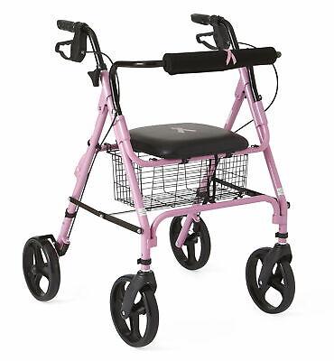 Medline Rollators with 8 Inch Wheels, Pink
