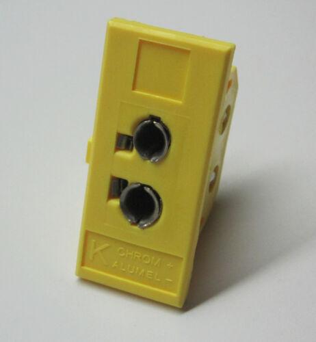 Universal K-type Panel Jack Socket f Miniature & Standard Thermocouple Connector
