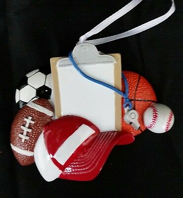 Personalized Coach Football/Soccer/Basketball/BaseBall Christmas Ornament - Personalized Football Ornaments
