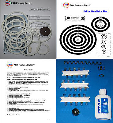 1971 Gottlieb Card King Pinball Machine Tune-up Kit -Includes Rubber Ring Kit