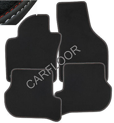 Für Mini R50 Bj 6.01-10.06 Fußmatten Velours schwarz mit Befestigungen