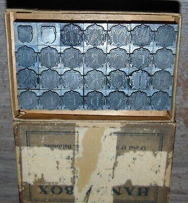 Vintage Letterpress Handy Box Alphabet All Lead Missing X Z Extra A T