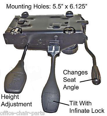 Heavy Duty Swivel Office Chair Mechanism W Infinite Lock. Made In Canada T-3001