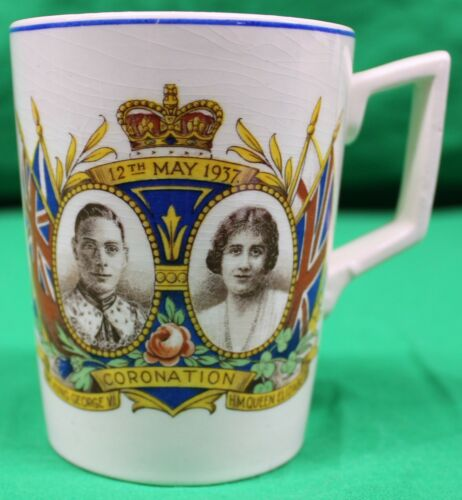 Original Queen Elizabeth and King George VI Coronation of 1937 Cup/Mug