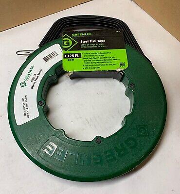 Greenlee No. 438-10 Steel Fish Tape - 125 X 18 X 0.060 - Used - Nice