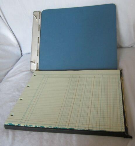 Vintage McMillan Sectional Post Ledger Binder A8406B and 35 Columnar Sheets