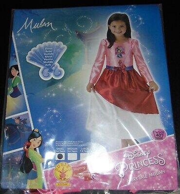 Mulan Kleid Kostüm Mädchen 3 - 4 Jahre Dress Karneval Fastnacht Ball - Mulan Disney Kostüm