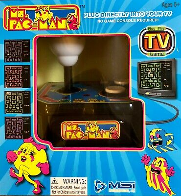 Ms. Pacman TV Arcade Classic Video Game Plug & Play  No Console Required New