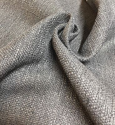 MARK & SPENCER / NEXT CHARCOAL GREY CHENILLE UPHOLSTERY FABRIC 2.6 METRES
