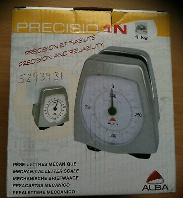 ALBA 1kg MECHANICAL POSTAL SCALE 5g INCREMENTS LARGE DISPLAY PLATFORM PRE1N/M