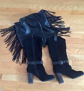 Leather Boots & Fringe Purse For Sale!