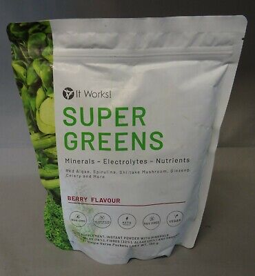 IT WORKS - SUPER GREENS - MINERAUX ELECTROLYTES NUTRIMENTS- BAIE - 180...