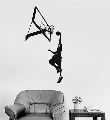 Vinyl Wall Decal Basketball Sports Fan Player Boys Room Kids