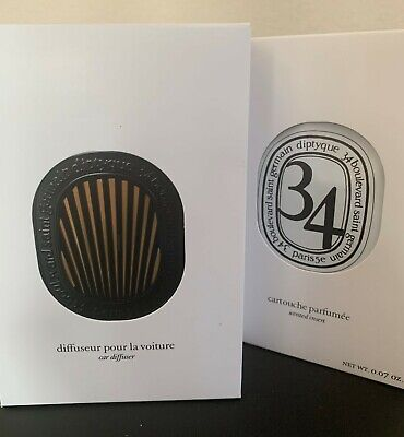 Diptyque Car Diffuser with 34 Scented Insert (OPEN BOX)
