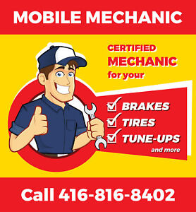MOBILE TIRE SERVICE. Call 416.816.8402