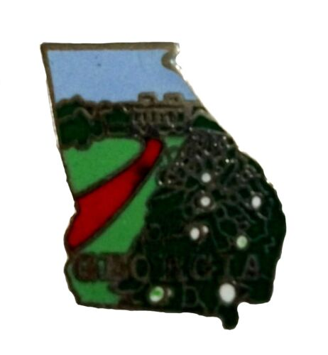 Georgia State Outline Hat Tac or Lapel Pin
