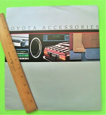 1985 TOYOTA ACCESSORIES HUGE DLX BROCHURE 12-pgs USA Ed CELICA GTS CONVERTIBLE