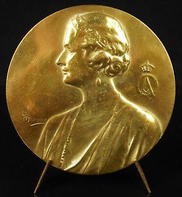 Medal Princess Astrid of Sweden Av Sverige Küssnacht 1935 Queen of Belgian