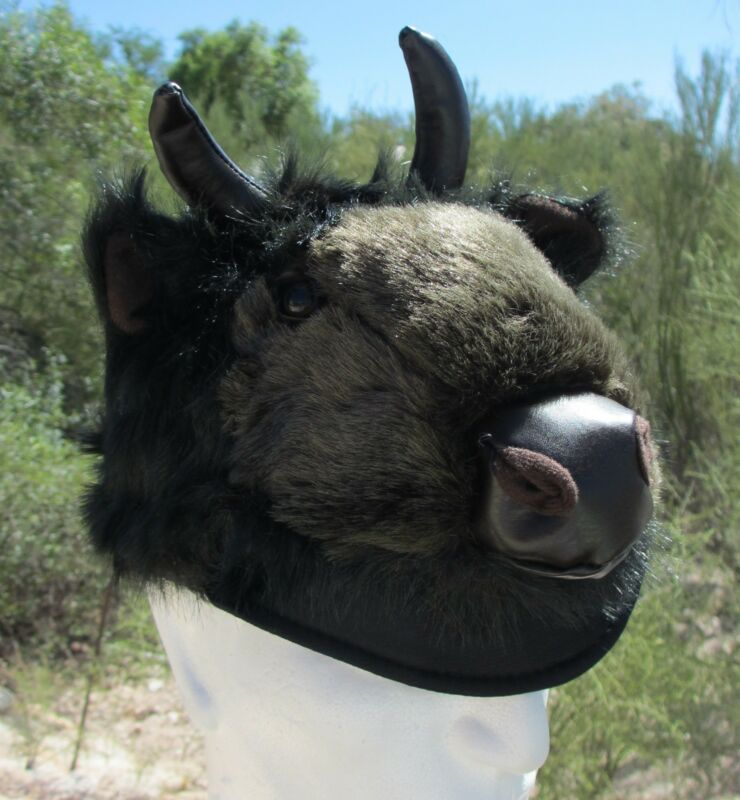 BUFFALO HAT plush BILLS bulls halloween costume Bison ADULT buffaloes for humans
