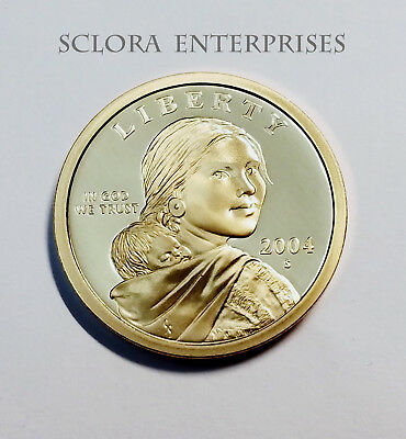 2004 S SACAGAWEA *PROOF* DOLLAR COIN  **FREE SHIPPING**, used for sale  Shingletown